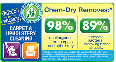 Longleaf Chem-Dry's carpet and upholstery cleaning services remove 98% of allergens and 89% of bacteria from your home or office in Mobile, AL